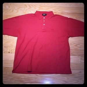 Hugo Boss Shirts - Hugo Boss - Red Polo Shirt XL